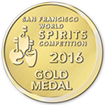 2016 San Francisco World Spirits Competition Gold Medal